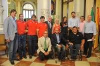 De la Torre recibe a los deportistas malagueños de los Juegos Olímpicos y Paralímpicos de Londres