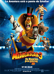 Madagascar 3: De marcha por Europa - Cartel