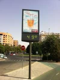 Aemet eleva a nivel naranja la alerta por altas temperaturas este viernes y sábado en Murcia