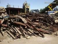 Detenidas cuatro personas tras detectar el expolio de unos 78.000 kilos de hierro del tren minero