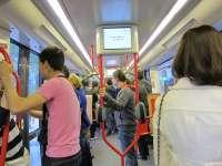 El tranvía amplía su horario y refuerza frecuencias coincidiendo con el primer partido de Liga en La Romareda