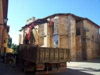 Patrimonio Histórico coloca sensores de movimiento en la iglesia de San Juan Bautista de Aranda de Duero (Burgos)