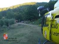 Rescatado un menor alemán tras golpearse con un árbol en la vertiente leonesa de Picos de Europa