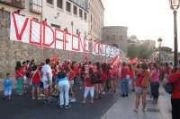 Cientos de personas se manifiestan en Toledo para apoyar a los 650 trabajadores despedidos de Teletech