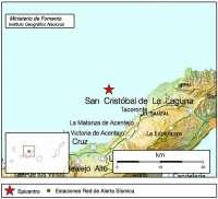 El norte de Tenerife registra un sismo de 3.8 grados