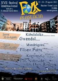 El folk regresará a Plasencia (Cáceres) del 23 al 25 de agosto con una edición más de su festival internacional