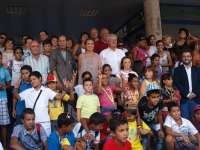 Gamarra y Del Río despiden a los niños saharauis que han participado en el programa 'Vacaciones en paz'