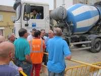 Vecinos de Teis paralizan una obra del Ayuntamiento de Vigo tras el