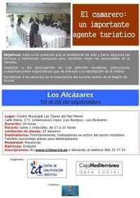 El Ayuntamiento de Los Alcázares, CAM y CCT organizan un curso sobre el camarero y su importancia turística