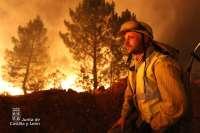 El director general del Medio Natural califica el fuego de Castrocontrigo (León) como el