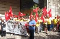 Cientos de trabajadores de Geacam vuelven a manifestarse para mostrar su