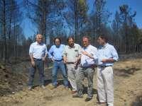 La Diputación de León se reúne con los alcaldes de la comarca de La Valdería y La Valduerna afectados por el incendio