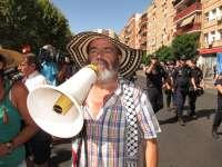 Concluye la marcha del SAT con leves incidentes y las proclamas de Sánchez Gordillo ante cientos de personas