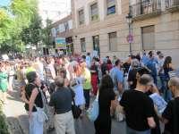 Más de un centenar de empleados públicos se concentra en Cáceres contra los  recortes aprobados por el Gobierno