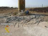 Cuatro detenidos por un robo con fuerza de unos 400 kilos de cobre en una empresa de Garrapinillos
