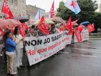 Unas 1.500 personas se concentran en Galicia en protesta por los recortes, que ven un