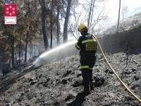 Controlado un incendio forestal en Soneja (Castellón) que ha movilizado hasta cinco medios aéreos