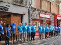 Miembros de Herrira se concentran en Pamplona y comienzan 32 horas de ayuno por la libertad de Uribetxebarria