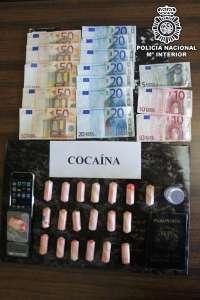 Detenido un joven de 29 años en Palma tras intervenirle un kilo de cocaína en un hotel de Gomila
