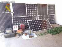 Dos detenidos acusados de robar placas solares en la zona del Condado