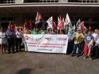Los sindicatos de seguridad privada prevén más movilizaciones tras el verano para exigir el cumplimiento del convenio