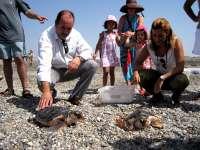 M.La Junta libera en el parque natural de Cabo de Gata-Níjar once ejemplares de tortuga boba