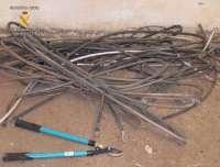 Dos detenidos en Albacete por el robo de 80 kilos de cable de cobre