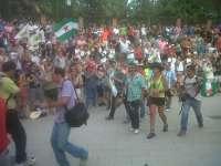 El SAT inicia la segunda jornada de su marcha desde La Zubia y con numerosa presencia policial
