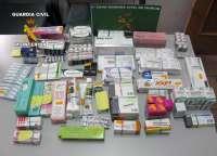 Guardia Civil incauta 2.000 dosis de productos farmacéuticos ilícitos y más de un centenar de cajetillas de tabaco