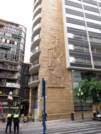 El saneamiento de la fachada del edificio PROP debe realizarse en un máximo de 10 días, según el Ayuntamiento