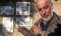 Catalanes y aragoneses de la Ribagorza plasman poesía sobre muros, vallas y farolas