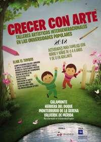 La segunda edición del programa 'Crecer con arte' de Diputación de Badajoz y Aupex se inicia el próximo sábado