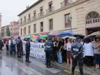 Trabajadores protestan ante el TSJA coincidiendo con la apertura del año judicial en Andalucía