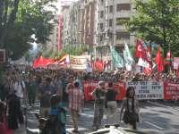 La Plataforma Sindical realizará este viernes una cadena humana por la Gran Vía de Bilbao