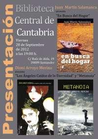 La Biblioteca Central de Cantabria acoge mañana la presentación de las novelas de dos autores vallisoletanos