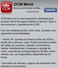 CCM lanza una aplicación gratuita para smartphones que facilita las operaciones en banca electrónica