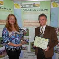 El Cabildo de Tenerife, premiado por sus proyectos ambientales de voluntariado