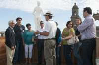 Agentes de viaje conocen atractivos de Las Palmas de Gran Canaria para enseñarlos a los turistas que visitan la isla
