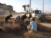 El equipo de la película 'El consejero' rueda en una nave industrial abandonada de San Vicente (Alicante)