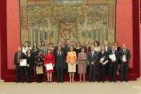 La Reina entrega al alcalde de Pamplona dos reconocimientos sobre patrimonio cultural