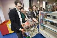 Gamarra destaca en su inauguración que la Biblioteca 'Rafael Azcona'