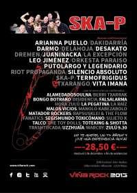 La banda Ska-P ofrecerá su primera actuación de 2013 en la XVIII Edición del Viñarock, en Villarrobledo (Albacete)