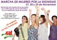Mujeres marcharán hacia Sevilla convocadas por el SAT contra las peonadas como requisito para cobrar el subsidio agrario