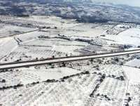 Una carretera catalana cortada y otras ocho con uso obligatorio de cadenas por la nieve