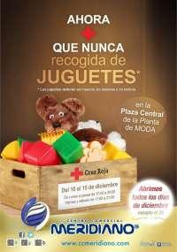 Cruz Roja y el Centro Comercial Meridiano ponen en marcha una campaña de recogida de juguetes en Tenerife