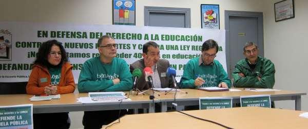 Plataforma por la Escuela Pública de CyL saldrá el jueves a la calle contra la Lomce y los recortes presupuestarios