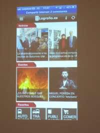 La nueva app municipal 'Logroño.es' permite que los usuarios interactúen en temas de movilidad, sugerencias o comercio