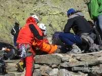 Rescatado un madrileño de 30 años que había resultado herido en un pie en la Sierra de Gredos, en Ávila
