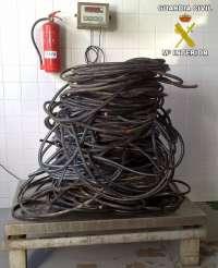 La Guardia Civil detiene a tres personas por el robo de más de 335 kilos de cable de cobre en Fuerteventura