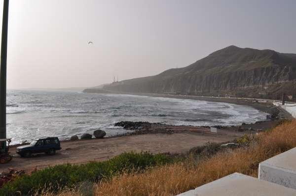 Las obras de las piscinas de la playa de La Laja, en Las Palmas de Gran Canaria, ya están en marcha